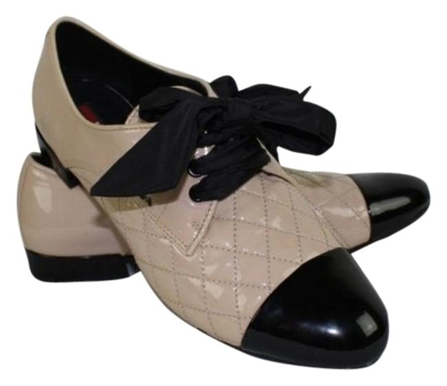 Item - Taupe 3e5308 Patent Leather Tie Bow Oxford Flats Size US 8