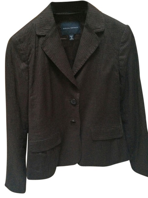 Preload https://item4.tradesy.com/images/banana-republic-brown-pinstripes-excellent-condition-blazer-size-8-m-10211803-0-1.jpg?width=400&height=650