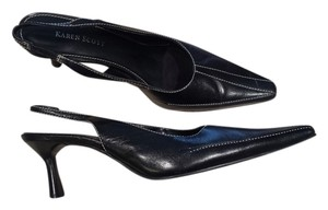 Karen Scott Good Condition Leather Size 7.50 M Black Pumps