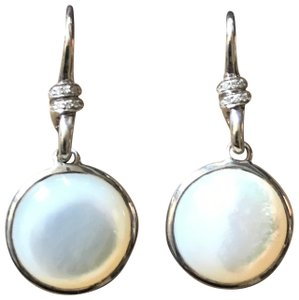Ippolita IPPOLITA MOTHER OF PEARL & DIAMOND SCULTURA MINI ROUND DROP EARRINGS