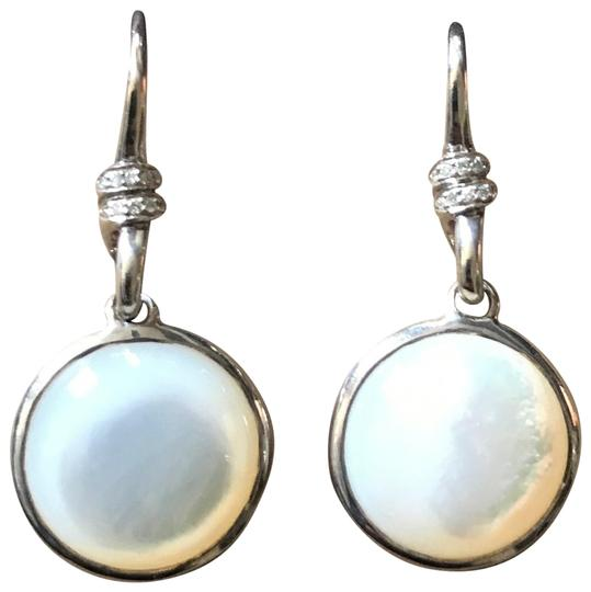 Preload https://img-static.tradesy.com/item/10212352/ippolita-white-mother-of-pearl-and-diamond-scultura-mini-round-drop-earrings-0-3-540-540.jpg