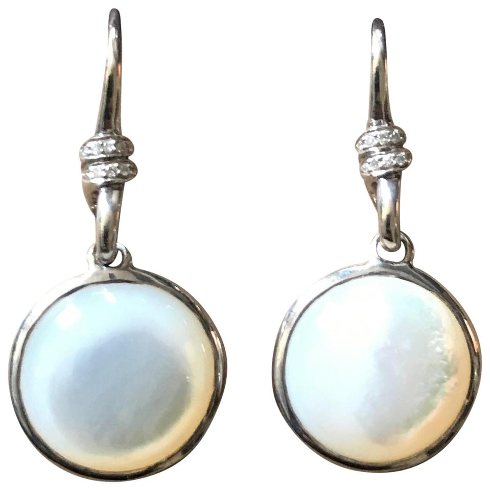 Ippolita Mother Of Pearl Diamond Scultura Mini Round Drop Earrings