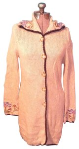 Mary Kate and Ashley Olsen Wool Floral Embroidered Long Sweater