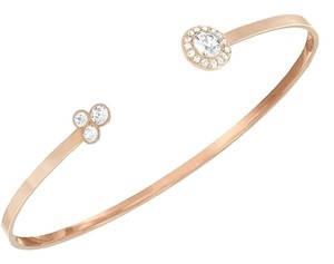 Swarovski Swarovski Rose Gold Bangle with Crystal End