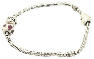 PANDORA Authentic Pandora sterling Silver 3 charms Bracelet,8in