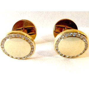 Cartier Extraordinary Cartier Cufflinks Purchased In Europe - 18k Gold With 46 Cartier Diamonds Originally $12500