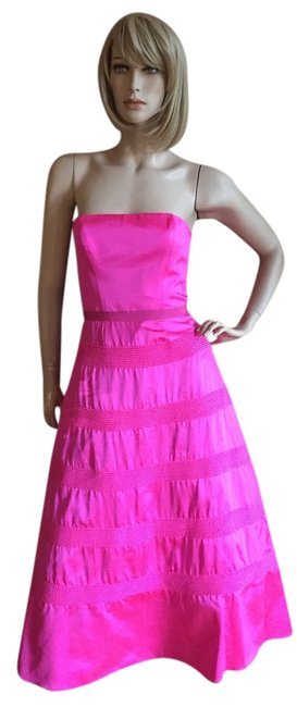 Preload https://item1.tradesy.com/images/isaac-mizrahi-pink-long-formal-dress-size-4-s-10213150-0-2.jpg?width=400&height=650
