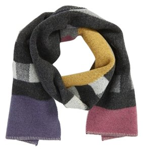 Burberry PATCHWORK CHECK WOOL CASHMERE BLANKET SCARF