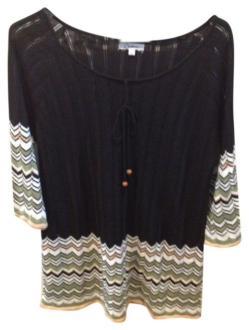 Preload https://item2.tradesy.com/images/carducci-black-with-stripes-tunic-size-10-m-10214191-0-1.jpg?width=400&height=650