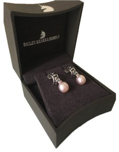 Honora Pink Freshwater Pearl Drop Earrings in Sterling Silver