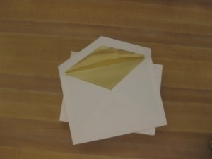 Beige/Ivory with Gold Foil Lining and Lined Envelopes - 200 Count