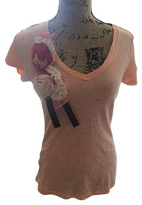Charlotte Russe Embellished T Shirt Peach