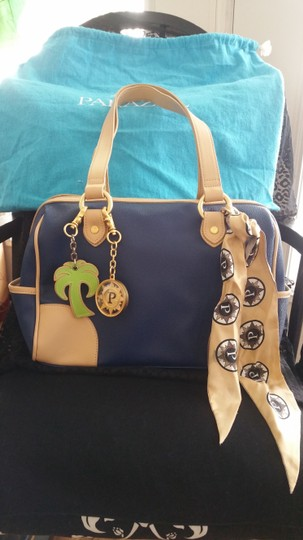 Other Leather Rare Satchel in Navy Image 1
