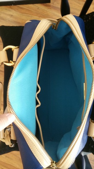 Other Leather Rare Satchel in Navy Image 3