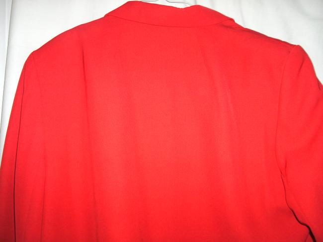 Norton McNaughton Size 14 Padded Shoulders Polyester Red Blazer