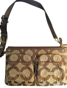 Coach Casual Day Travel Brown Messenger Bag