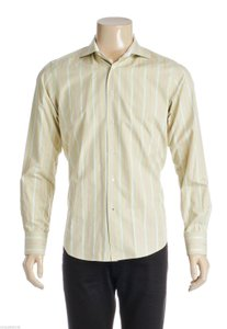 Robert Graham Robert Graham Green Multicolor Striped Men's Button Down Shirt (size M)