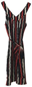 Marc by Marc Jacobs short dress Navy White Red Striped Silk on Tradesy