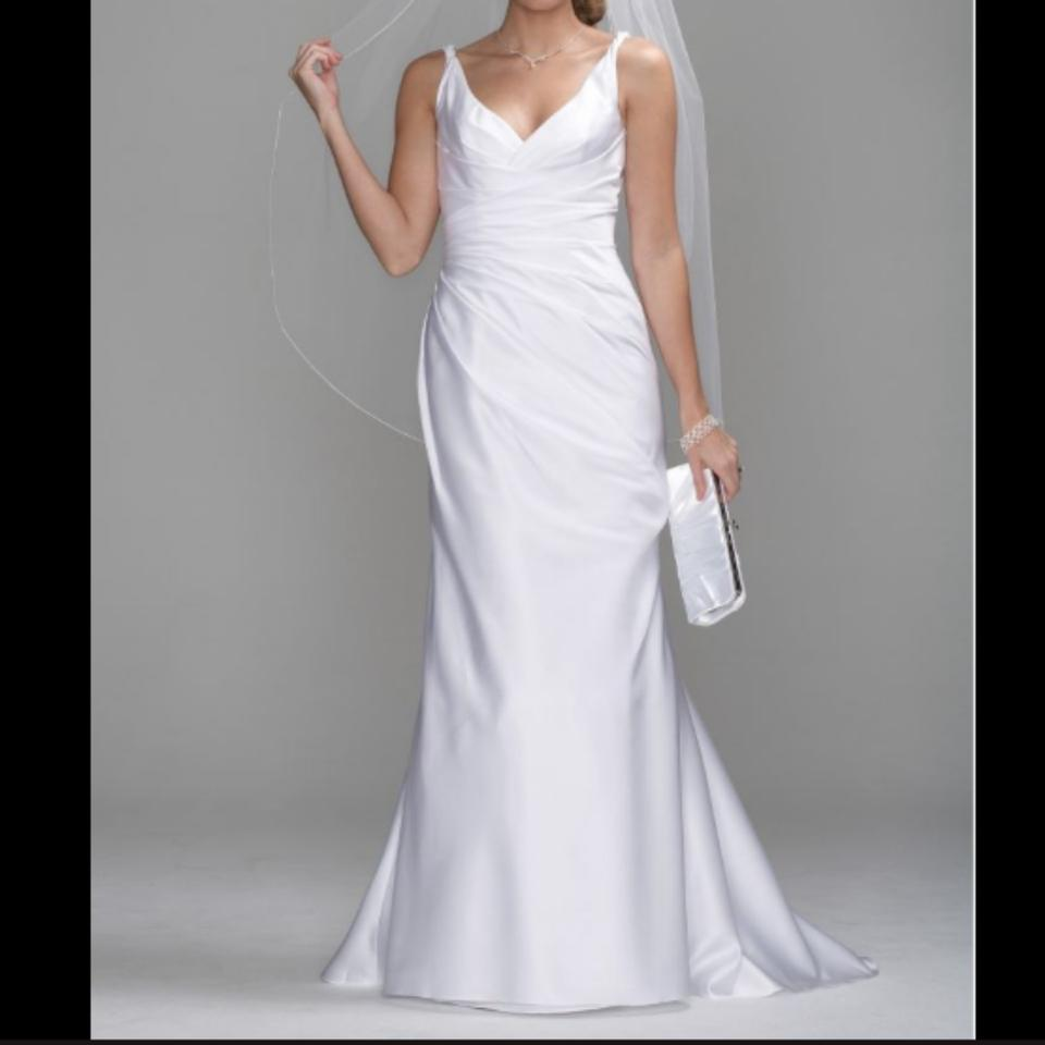 Db Studio Wedding Gowns: David's Bridal Light Ivory Satin Db Studio Sas1200 Modern