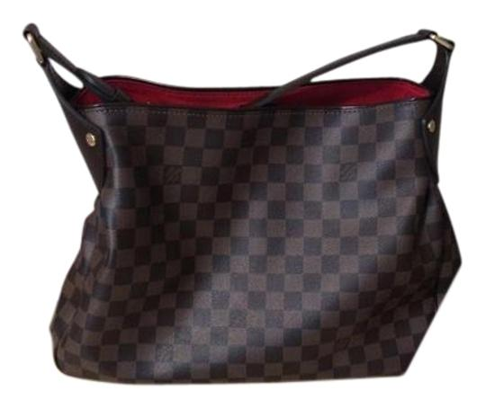 Louis Vuitton Damier Canvas Reggia Damier Ebene Handbag Hobo Bag