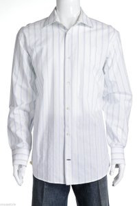 Banana Republic Banana Republic White Mulitcolor Long Sleeve Men's Button Down Shirt (size Xl)