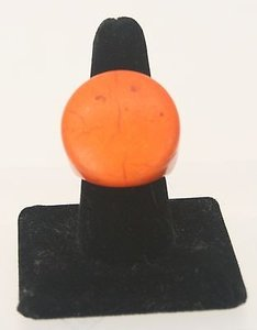 Nl Orange With Matrix Stone Ring Bj12
