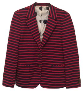 Anthropologie Blue/Red Blazer