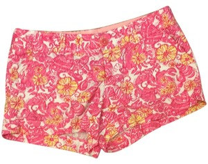 Lilly Pulitzer Mini/Short Shorts Pink Chum Bucket