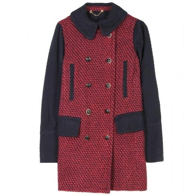 Tory Burch Tweed Military Winter Boucle Pea Coat