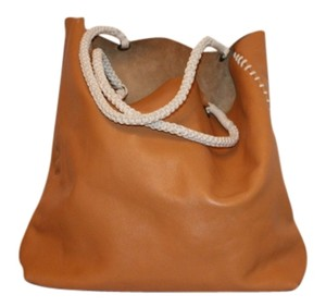 Anthropologie Leather Tote in Natural