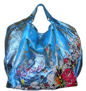 Ed Hardy Tote in turquoise
