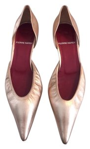 Pierre Hardy Hardy D'orsay Metallic Leather Rose Gold Pumps