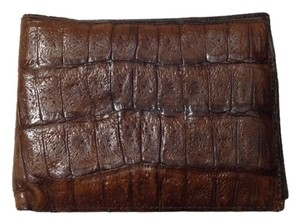 Other Brown Vintage Mid Century Genuine Crocodile Leather Bifold Wallet Made in Germany