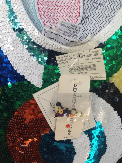 Adrienne Vittadini Sequins Disco Geometric Abstract Colorful Dress Image 5