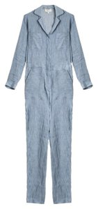 Paul & Joe Jumpsuit Striped Baggy Pants Blue