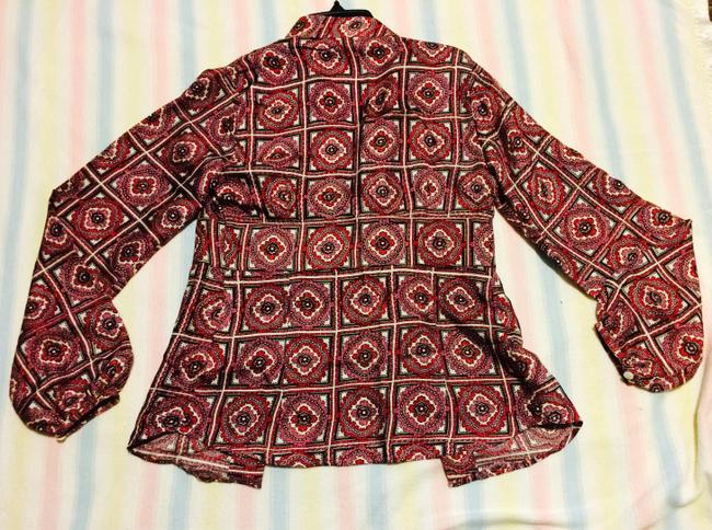 Stella Forest Silk Top pink and red-patterned Image 1