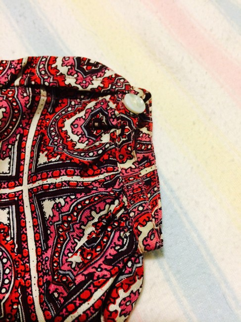 Stella Forest Silk Top pink and red-patterned Image 2