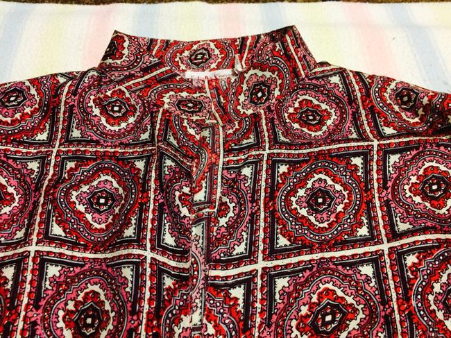 Stella Forest Silk Top pink and red-patterned Image 3
