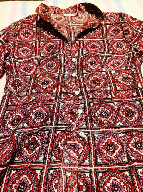 Stella Forest Silk Top pink and red-patterned Image 8