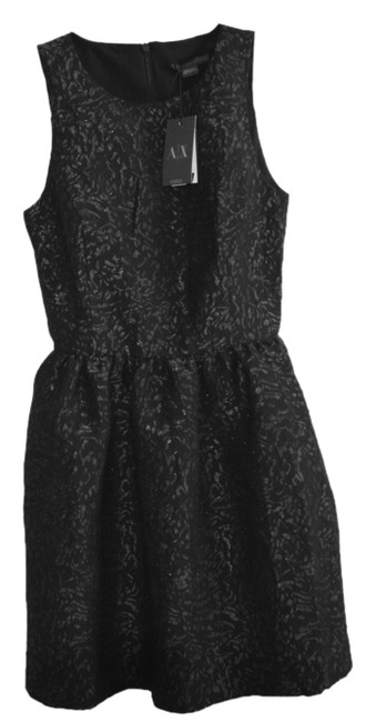 Preload https://item2.tradesy.com/images/ax-armani-exchange-black-ax-metallic-pattern-above-knee-cocktail-dress-size-2-xs-10220281-0-1.jpg?width=400&height=650