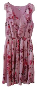 LC Lauren Conrad short dress Pink, Floral Floral Vintage on Tradesy