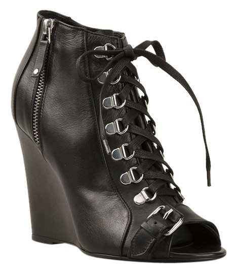 Preload https://img-static.tradesy.com/item/10220686/diesel-new-black-gold-lace-up-ankle-leather-bootsbooties-size-us-7-0-2-540-540.jpg