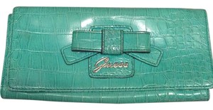 Guess Teal Clutch