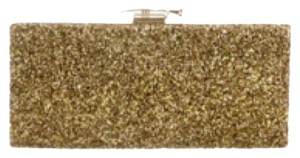 Kate Spade Glitter Antique Gold Clutch