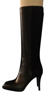 Jimmy Choo Suede Leather 5050 Black Boots