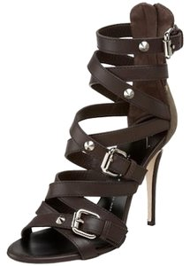 Giuseppe Zanotti New T Moro/Dark Brown Sandals