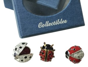 Carolee, Italy, Swarovski Elements Carolee, Italy, Swarovski Elements Ladybugs set of 3 pins in black, red, silver, gold, crystals