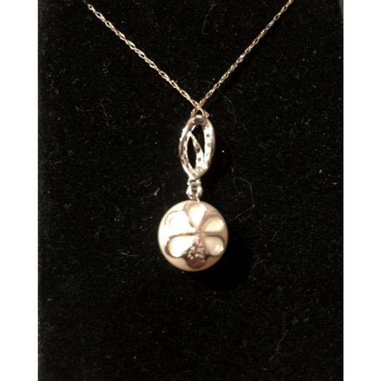 Macy's White Gold Diamonds and Pearl Necklace