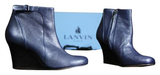 Preload https://item3.tradesy.com/images/lanvin-navy-leather-ankle-bootsbooties-size-us-7-narrow-aa-n-10222192-0-1.jpg?width=440&height=440