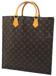 Louis Vuitton Vintage Monogram Leather Tote in Brown